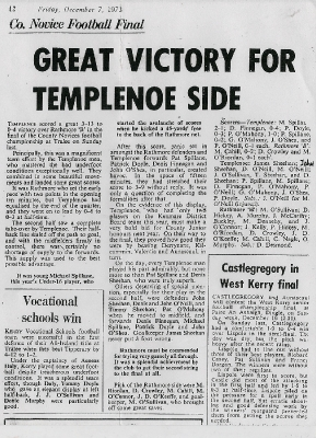 County Novice Final 1973, Templenoe V Rathmore_1